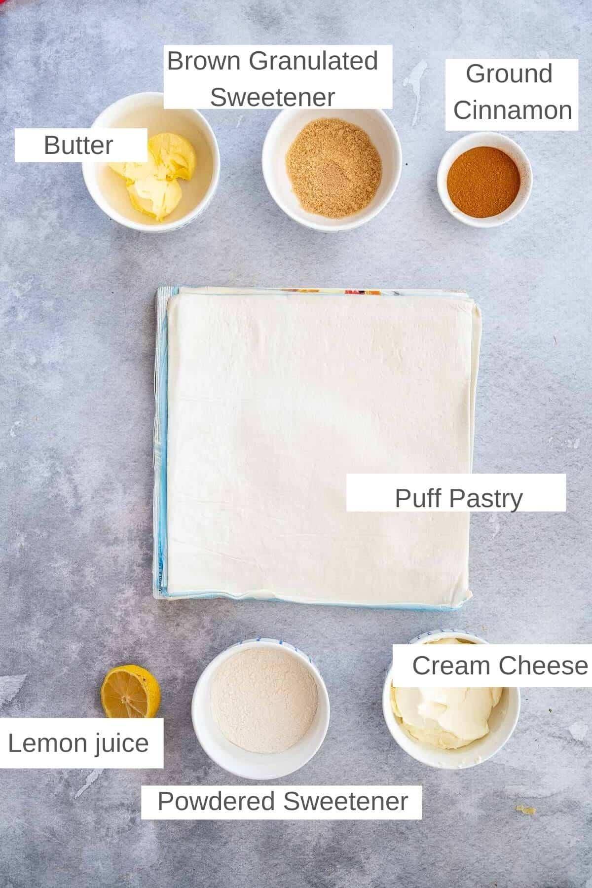 ingredients for air fryer cinnamon rolls