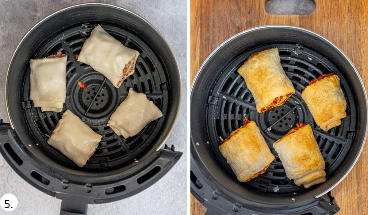 pizza rolls in air fryer basket