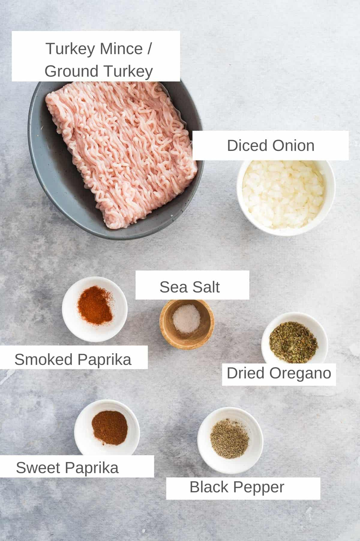ingredients fo air fryer turkey meatballs