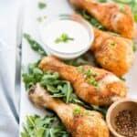 Air Fryer Chicken Drumsticks - pin