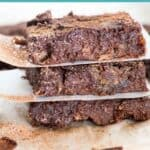 Chocolate Banana Brownies- pin