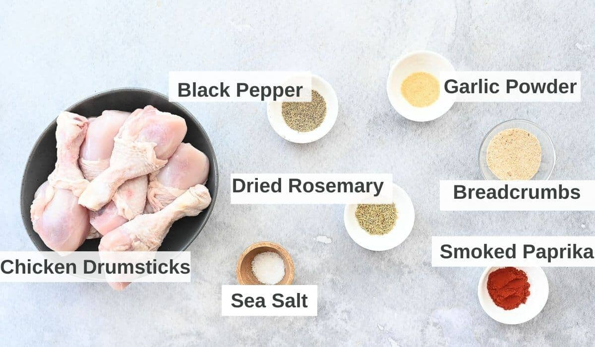 ingredients for air fryer chicken drumsticks
