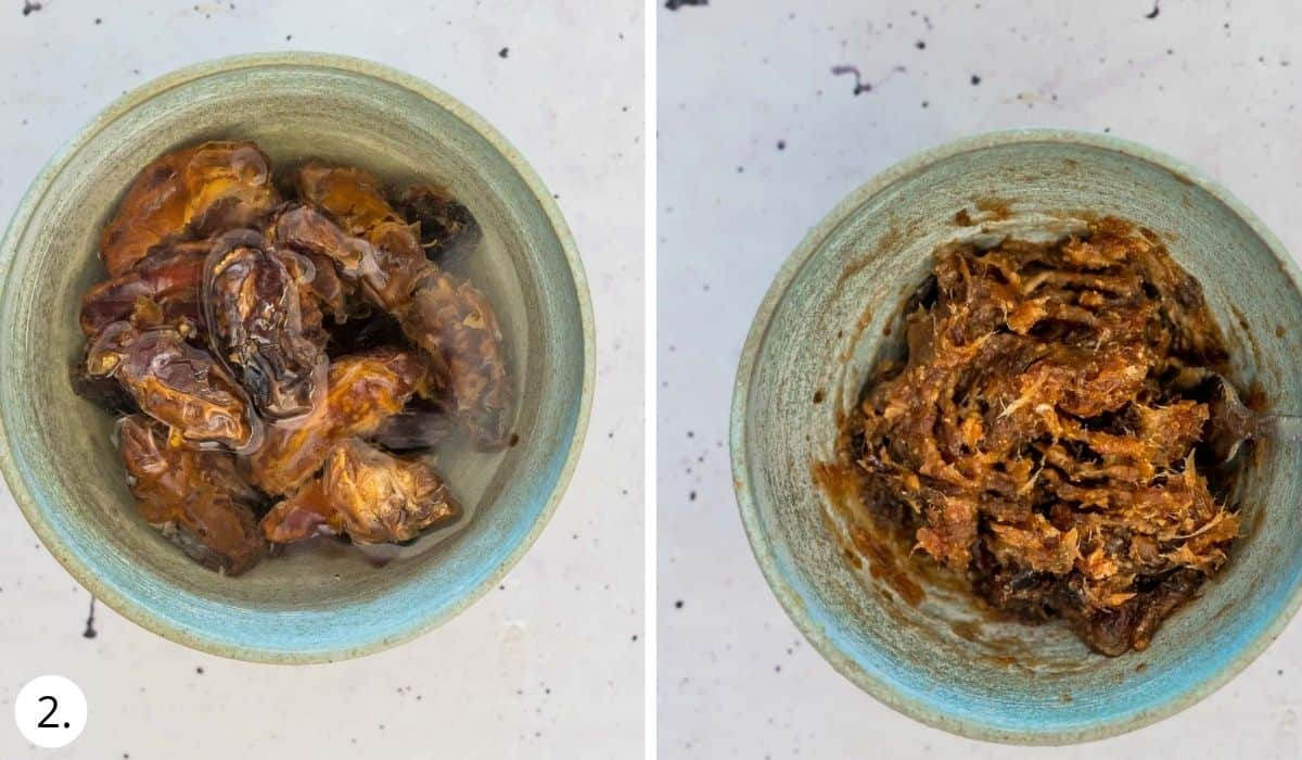 soaking dates in a bowl