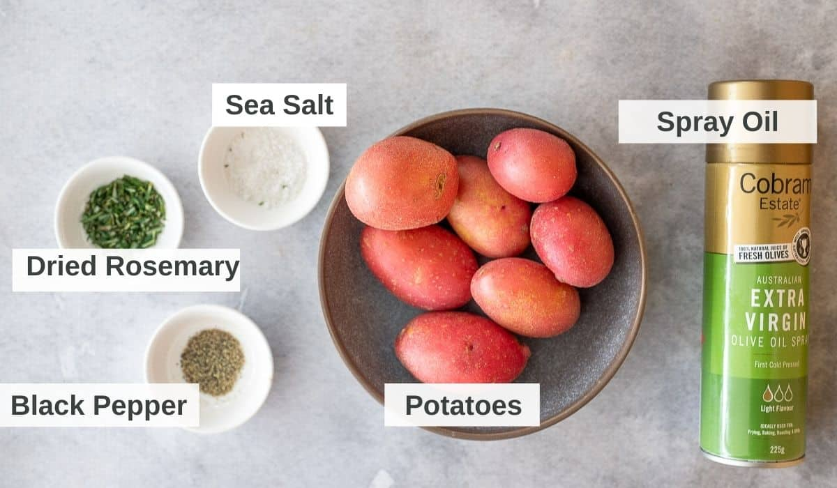 ingredients for air fryer potato wedges