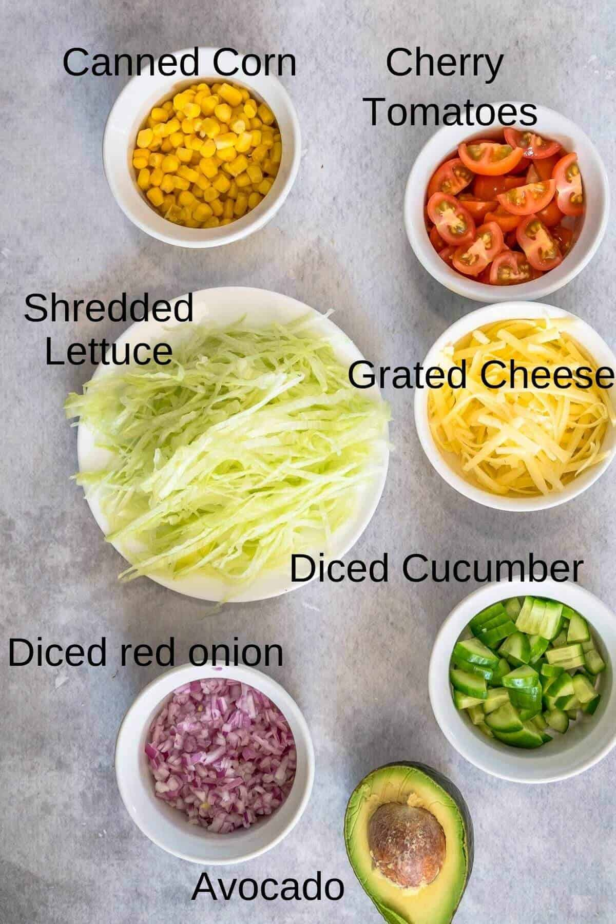 Ingredients for fresh salsa