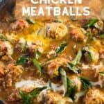 Healthy Butter Chicken Meatballs - pin