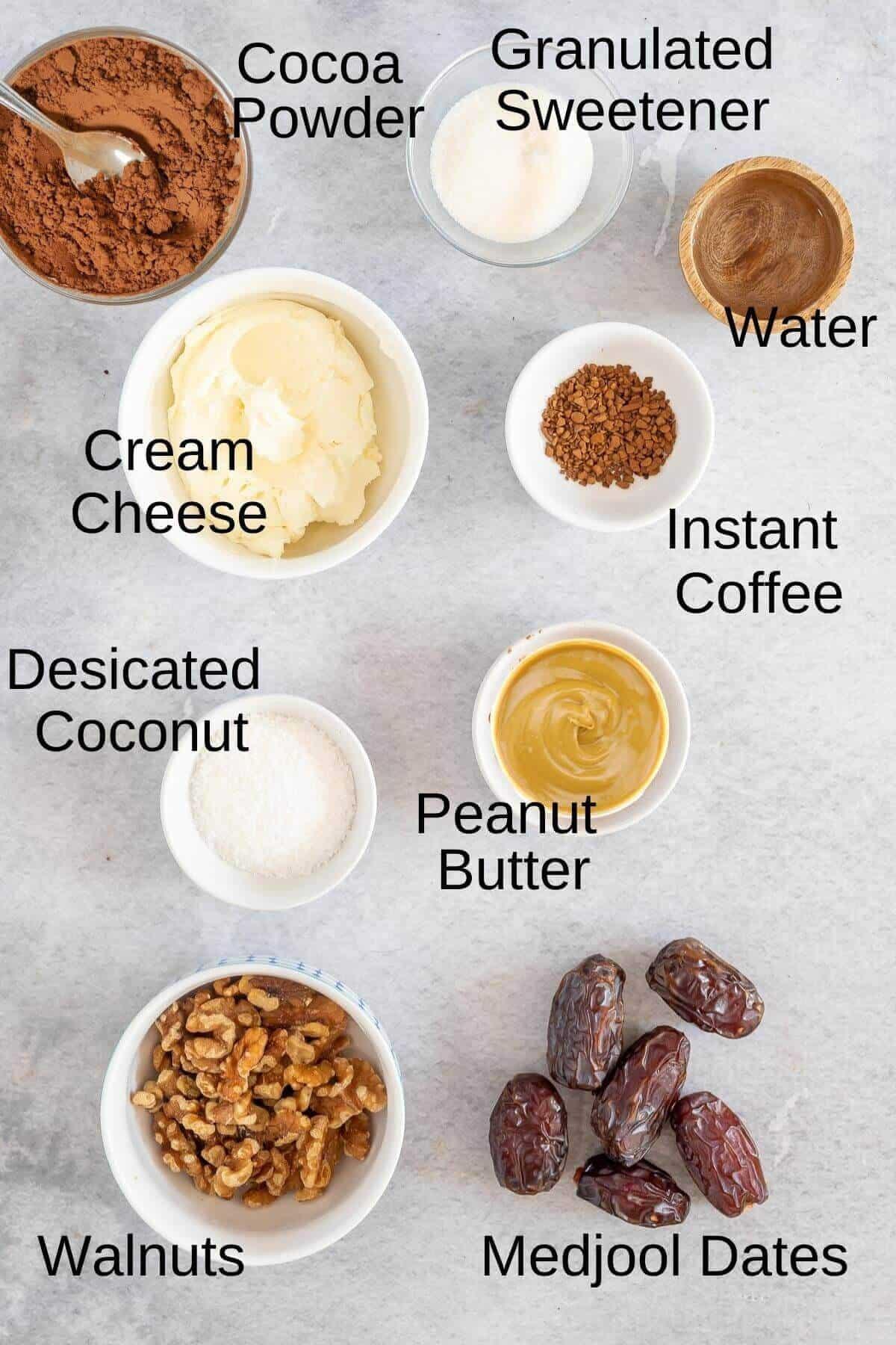 mini mocha cheesecake ingredients