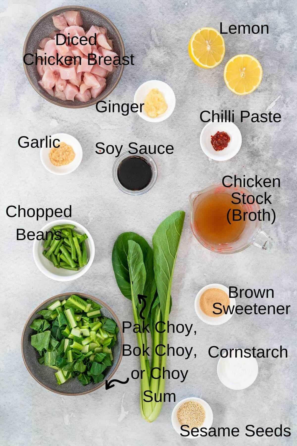 Lemon chicken stir fry ingredients