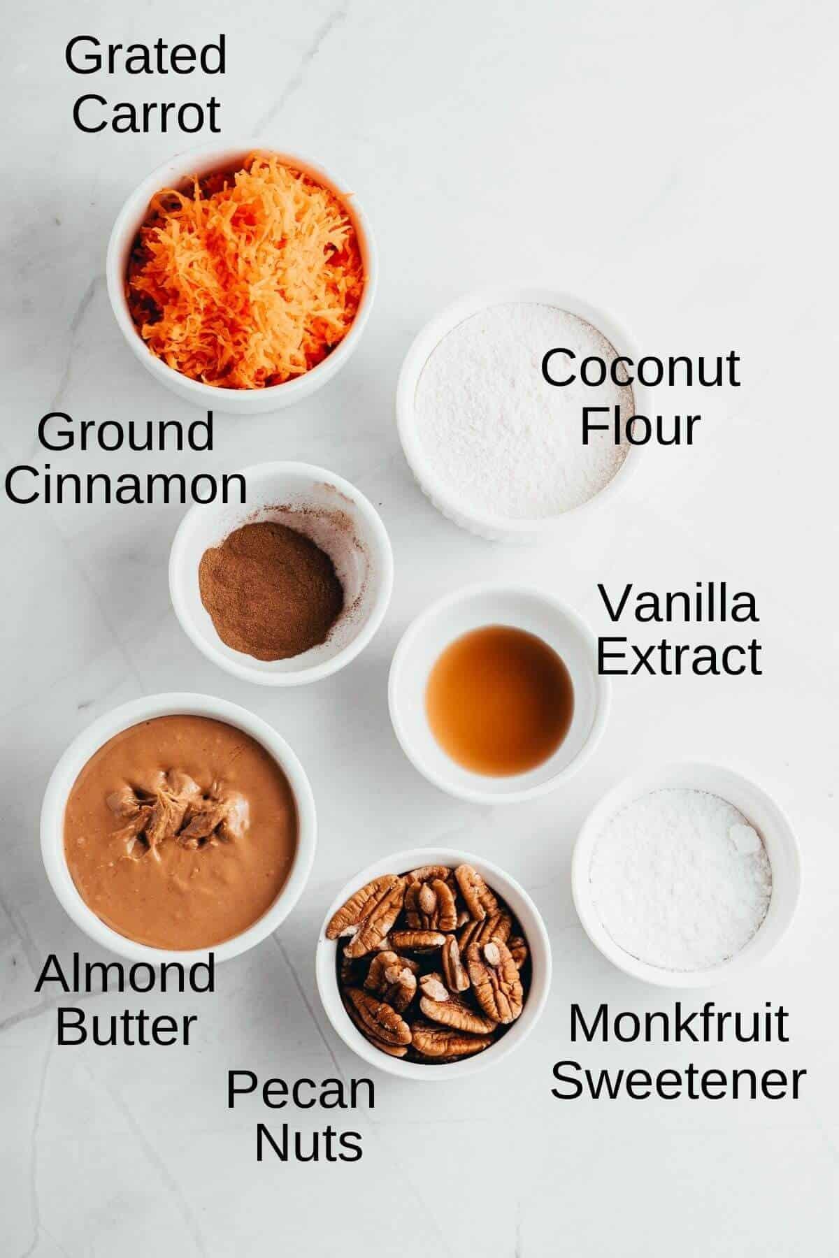 ingredients needed to make carrot cake balls